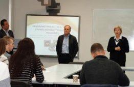 """Akimirkos iš KTU studentų susitikimo su kompanijų """"Thermo Fisher"""" ir """"Teva"""" atstovais"""