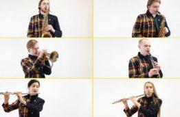 """KTU pučiamųjų grupė """"The Brass Bees"""" Laimės dienos proga pateikė siurprizą klausytojams: nauja kūrinio """"Disqoteque"""" interpretacija"""